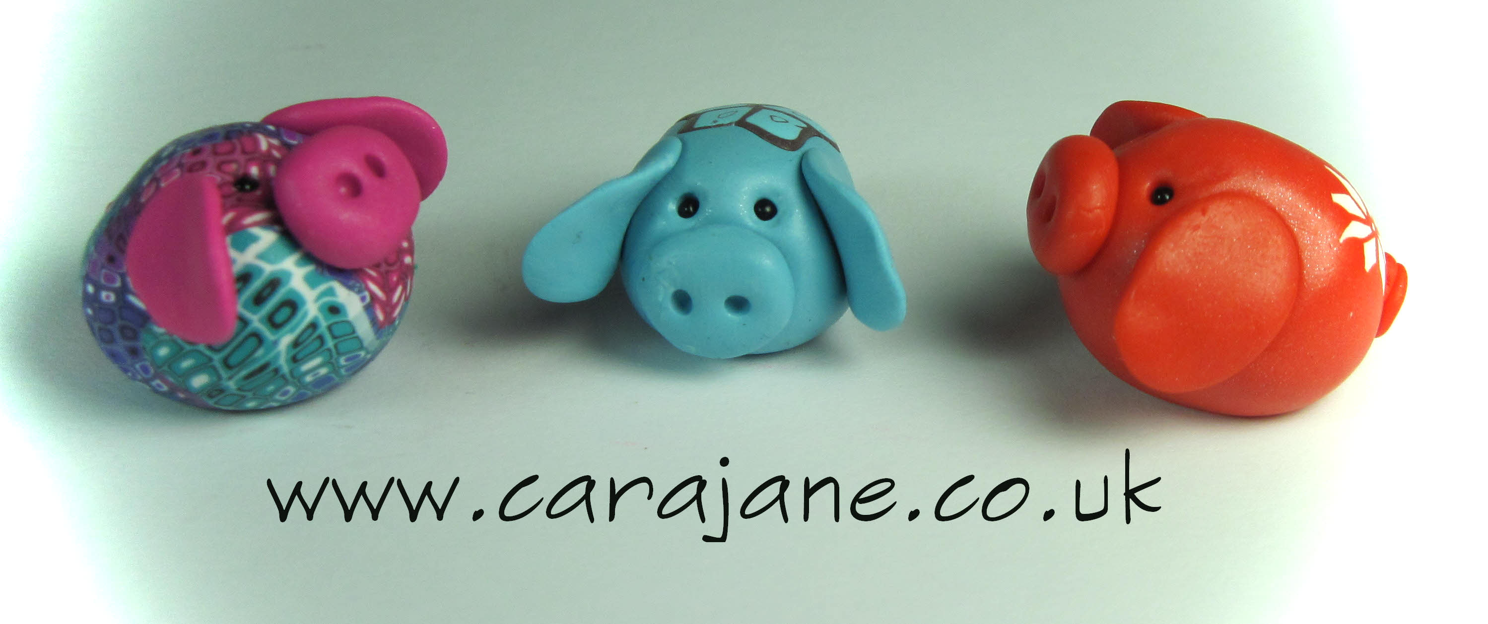 polymer clay pigs