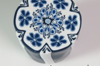 Blue Thing a Days – Delft inspired cane