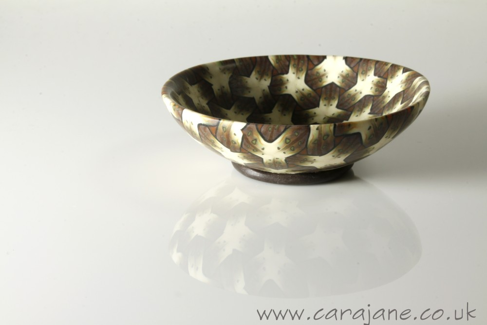 Small Intricate Brown Ring Bowl by Cara Jane