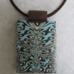Latest jewellery – blue and brown pendants