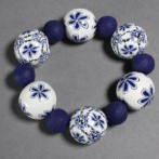 Delft Inspired Bracelet – Free tutorial on the Premo! Sculpey website