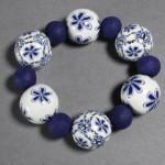 Cara Jane Delft Inspired Bracelet Premo! free tutorial
