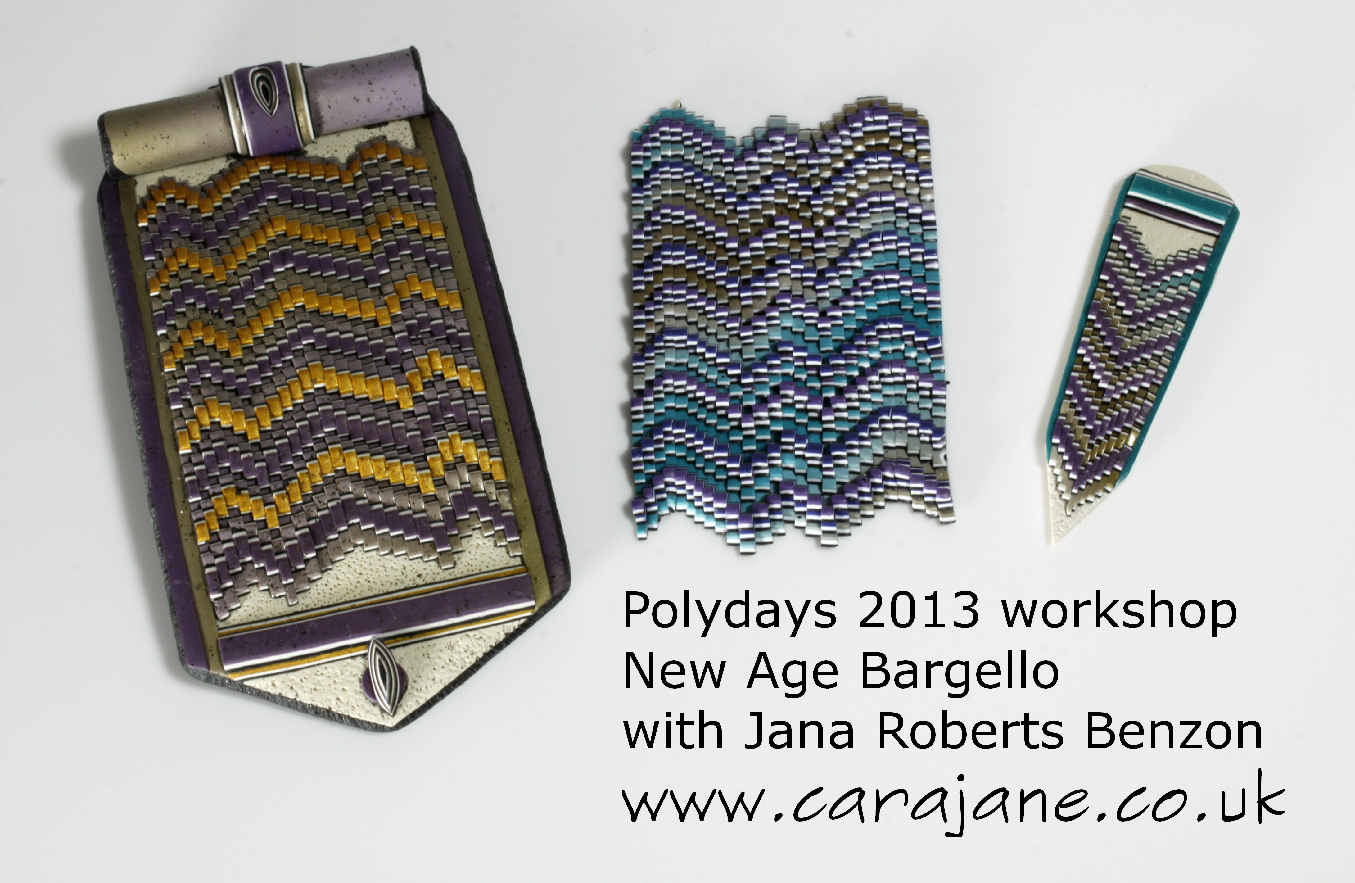 New Age Bargello workshop pieces by Cara Jane