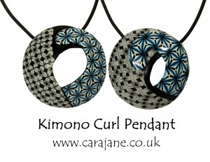 Cara Jane Kimono Curl Pendant Polymania UK 2015 workshop Project