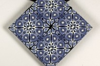 Blue and White Kaleidoscope Pendant