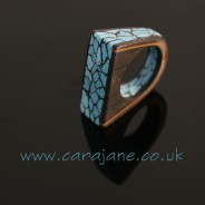 Faux Mahogany and Spiderweb Turquoise Ring – Polymania UK 2016 Project