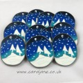 cara jane winter trees snowglobe polymer clay decoration