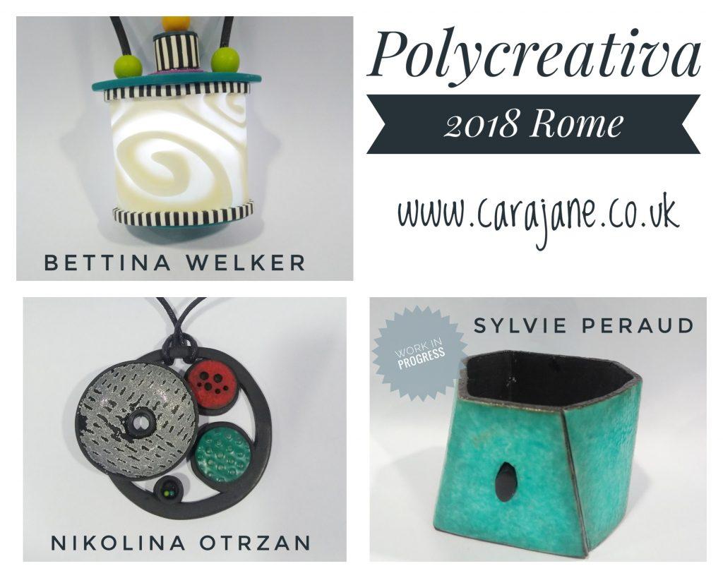 Cara Jane Polycreativa 2018 workshop projects with Bettina Welker, Nikolina Otrzan and Sylvie Peraud