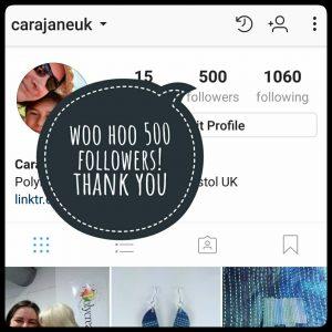 @carajaneuk 500 followers on Instagram