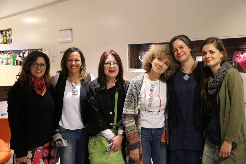 Euro Clay Carnival Rome 2019 teachers and organisers. Fabiola Perez Ajates, Paola Mattioli, Donna Kato, Monica Scala, Cara Jane Hayman, Eva Haskova